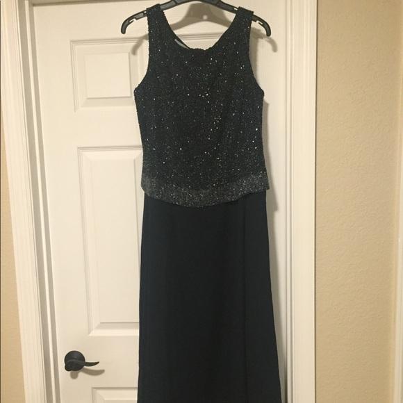 Chadwicks Dresses Lined Formal Blue Dress Size 12p Poshmark